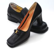 Man Shoes And Lady Shoes Royalty Free Stock Photos