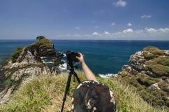 A man shooting amazing view of Kapas Island located in Terengganu Malaysia Royalty Free Stock Image