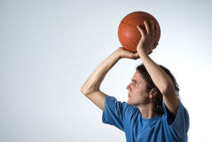 Man Shooting a Basketball - Horizontal Royalty Free Stock Image