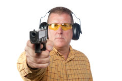 Man shooting gun Royalty Free Stock Photo