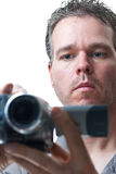 Man shooting with a video camera Stock Photo