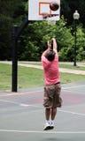 Man shoots basketball 4 Royalty Free Stock Photography