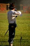 Man shoots N-SSA National Skirmish-1. Man shoots at N-SSA National Skirmish Royalty Free Stock Photo