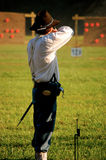 Man shoots N-SSA National Skirmish-1. Man shoots at N-SSA National Skirmish Royalty Free Stock Images