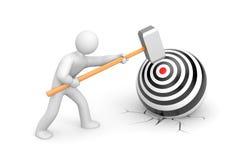 Man shoots a target Stock Images
