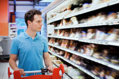 Man in the shop royalty free stock photography