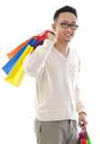 Man shopper Stock Images