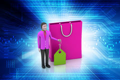 Man with shopping bag Royalty Free Stock Images