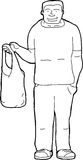 Man with Shopping Bag Stock Photography