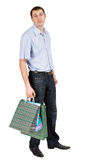 Man with shopping bags Royalty Free Stock Image