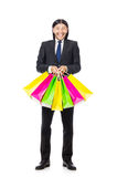 Man with shopping bags Royalty Free Stock Photo