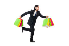 Man with shopping bags Stock Images