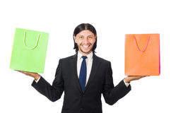 Man with shopping bags Stock Photos