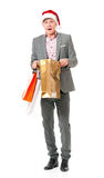 Man with shopping bags Stock Image