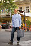Man with shopping bags Royalty Free Stock Photography
