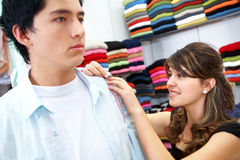 Man shopping for clothes Royalty Free Stock Images