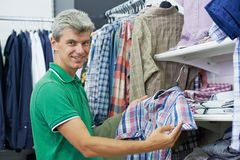 Man shopping clothes Royalty Free Stock Photo