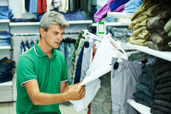Man shopping clothes Stock Images