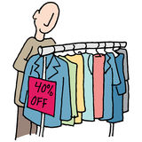 Man shopping for clothes Royalty Free Stock Photo