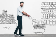 Man shopping. Stock Image