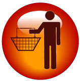 Man shopping icon Stock Images