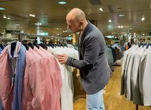 Man in shopping mall Stock Image