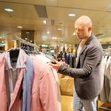 Man in shopping mall Stock Photography