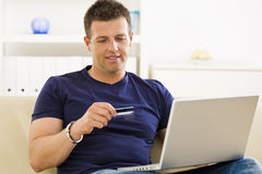 Man shopping online Royalty Free Stock Photo