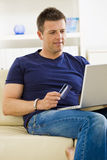Man shopping online Royalty Free Stock Image