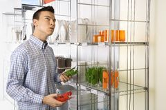 Man shopping in store. Stock Image