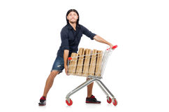 Man shopping Stock Image