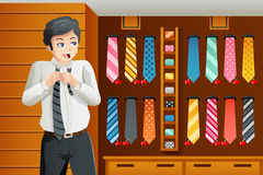Man shopping for a tie Royalty Free Stock Photos