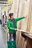Man shopping timber in DIY shop Royalty Free Stock Photos