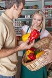 Man shopping a vegetables Stock Photos