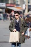 Man in shopping Royalty Free Stock Photo
