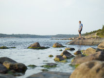 Man in shore Royalty Free Stock Photo