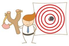Man shot a hole on target Stock Image