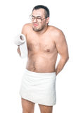 Man should be in the toilet Royalty Free Stock Photos
