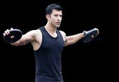 Man - shoulder raise royalty free stock photos