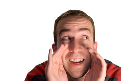 Man Shouting Royalty Free Stock Photography