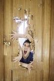 Man shouting attacked Stock Photos