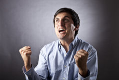 Man shouting of emotion Royalty Free Stock Photography