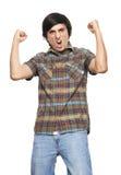 Man shouting of emotion Royalty Free Stock Images