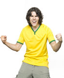 Man shouting of emotion Stock Photo