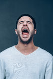 Man shouting. Royalty Free Stock Photography