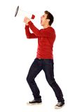 Man Shouting Through Megaphone Stock Image
