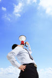 Man shouting megaphone Stock Photography