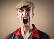 Man shouting stock photography