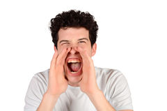 Man shouting. Royalty Free Stock Image