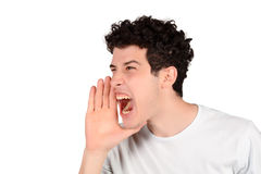 Man shouting. Stock Image